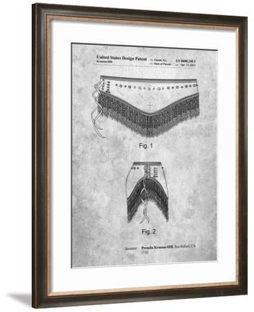 PP685-Slate Belly Dancing Belt Poster-Cole Borders-Framed Giclee Print
