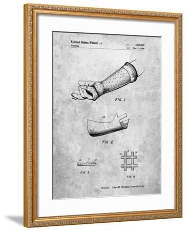 PP687-Slate Orthopedic Hard Cast Patent Poster-Cole Borders-Framed Giclee Print