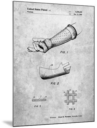 PP687-Slate Orthopedic Hard Cast Patent Poster-Cole Borders-Mounted Giclee Print