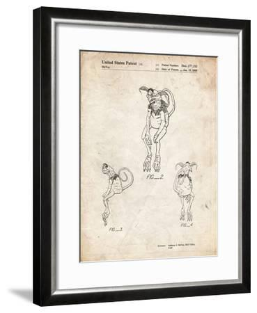 PP694-Vintage Parchment Star Wars Salacious Crumb Patent Poster-Cole Borders-Framed Giclee Print