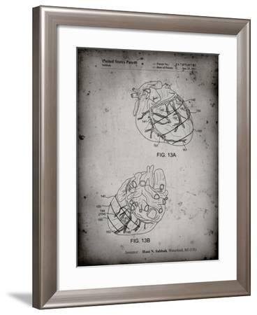 PP702-Faded Grey Anatomical Heart Poster-Cole Borders-Framed Giclee Print