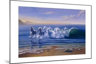 Wild Waters-Jim Warren-Mounted Giclee Print