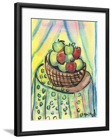 Basket of Apples-Jennifer Frances Azadmanesh-Framed Giclee Print