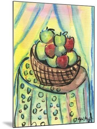 Basket of Apples-Jennifer Frances Azadmanesh-Mounted Giclee Print