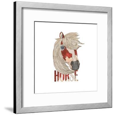 Textimals Horse-JessMessin-Framed Giclee Print