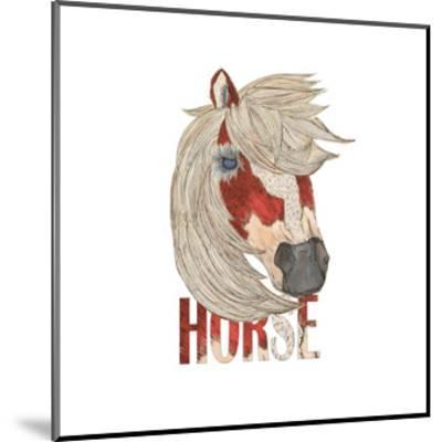 Textimals Horse-JessMessin-Mounted Giclee Print