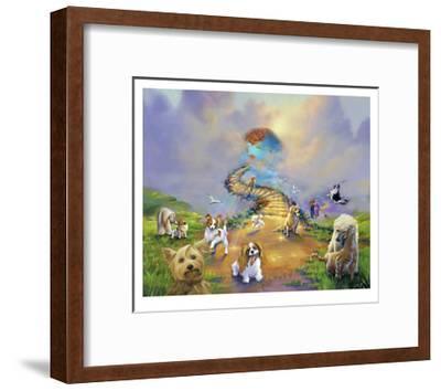 All Dogs Go To Heaven 4 Soft Sky Giclee Print By Jim Warren Artcom