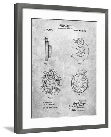 PP720-Slate Bausch and Lomb Camera Shutter Patent Poster-Cole Borders-Framed Giclee Print