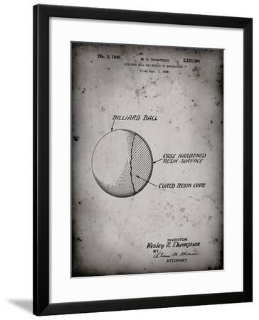 PP736-Faded Grey Billiard Ball Patent Poster-Cole Borders-Framed Giclee Print