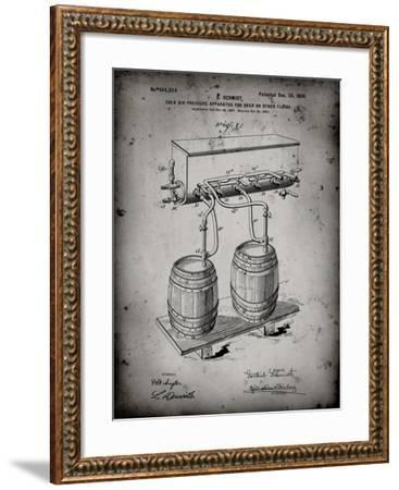 PP729-Faded Grey Beer Keg Cold Air Pressure Tap Poster-Cole Borders-Framed Giclee Print