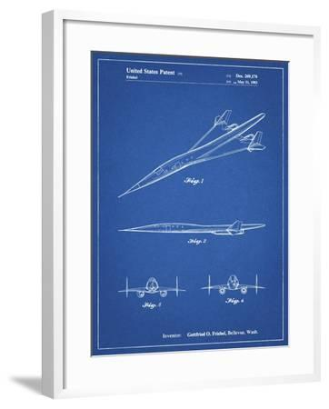 PP751-Blueprint Boeing Supersonic Transport Concept Patent Poster-Cole Borders-Framed Giclee Print