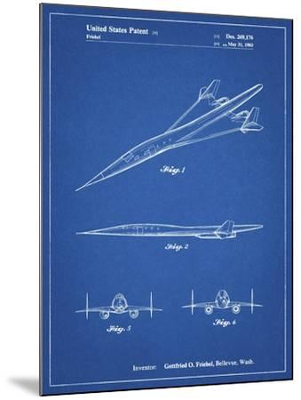 PP751-Blueprint Boeing Supersonic Transport Concept Patent Poster-Cole Borders-Mounted Giclee Print