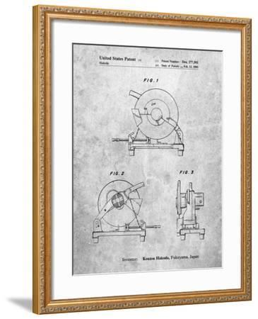 PP762-Slate Chop Saw Patent Poster-Cole Borders-Framed Giclee Print