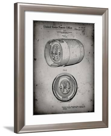 PP730-Faded Grey Beer Keg Patent Poster-Cole Borders-Framed Giclee Print