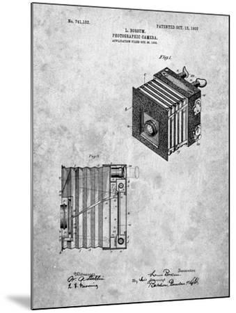 PP753-Slate Borsum Camera Co Reflex Camera Patent Poster-Cole Borders-Mounted Giclee Print