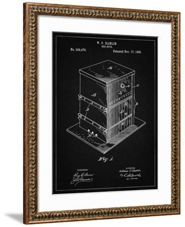 PP724-Vintage Black Bee Hive Exterior Patent Poster-Cole Borders-Framed Giclee Print