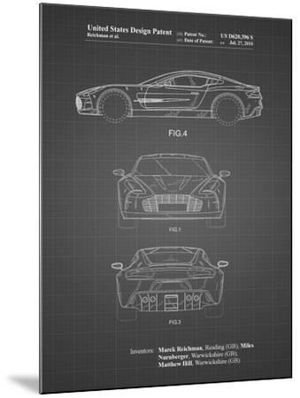 PP711-Black Grid Aston Martin One-77 Patent Poster-Cole Borders-Mounted Giclee Print