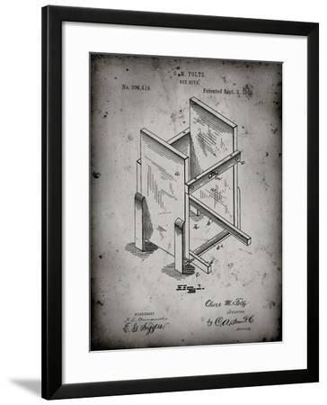 PP725-Faded Grey Bee Hive Frames Patent Poster-Cole Borders-Framed Giclee Print