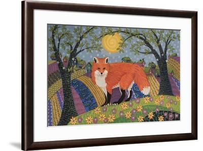 Snowy Spring Fox-K.C. Grapes-Framed Giclee Print