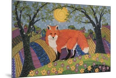 Snowy Spring Fox-K.C. Grapes-Mounted Giclee Print
