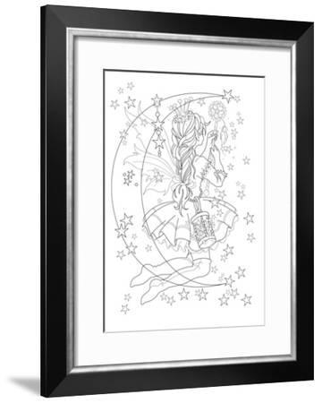 Light The Stars Lineart-Karen Middleton-Framed Giclee Print