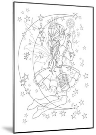 Light The Stars Lineart-Karen Middleton-Mounted Giclee Print