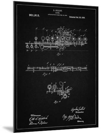 PP820-Vintage Black Flute 1908 Patent Poster-Cole Borders-Mounted Giclee Print