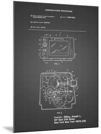 PP791-Black Grid Easy Bake Oven Patent Poster-Cole Borders-Mounted Giclee Print