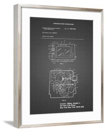 PP791-Black Grid Easy Bake Oven Patent Poster-Cole Borders-Framed Giclee Print
