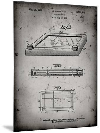 PP802-Faded Grey Etch A Sketch Poster Poster-Cole Borders-Mounted Giclee Print