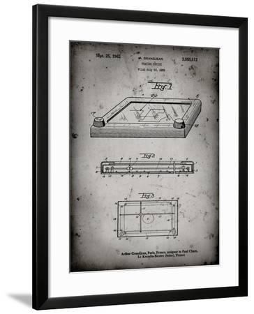 PP802-Faded Grey Etch A Sketch Poster Poster-Cole Borders-Framed Giclee Print