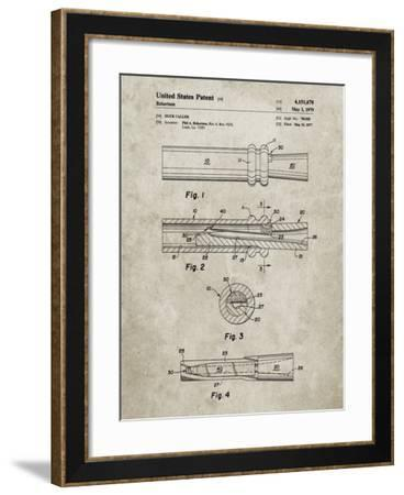 PP789-Sandstone Duck Call Patent Poster-Cole Borders-Framed Giclee Print