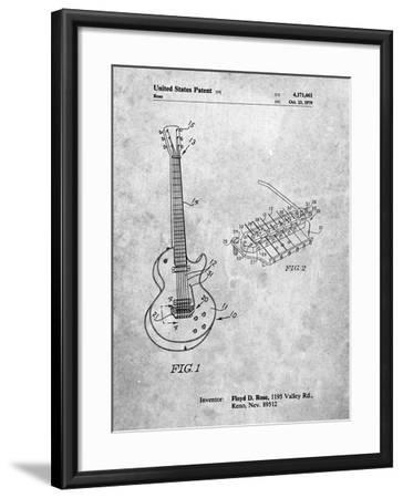 PP818-Slate Floyd Rose Guitar Tremolo Patent Poster-Cole Borders-Framed Giclee Print