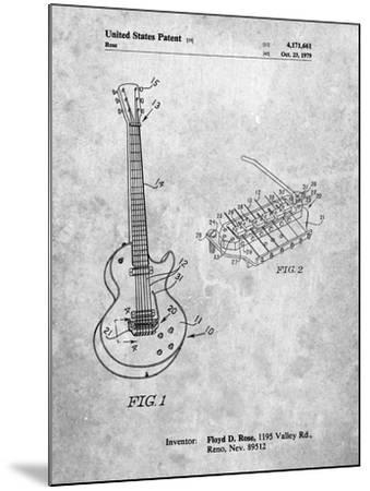 PP818-Slate Floyd Rose Guitar Tremolo Patent Poster-Cole Borders-Mounted Giclee Print