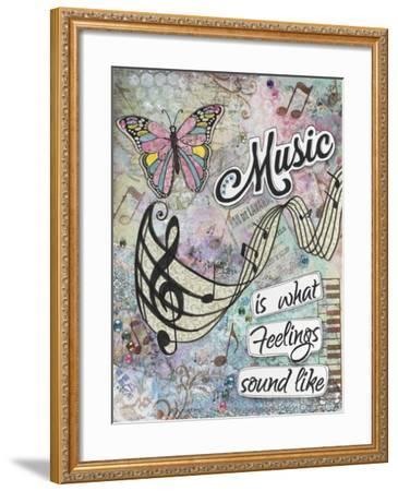 Musical Feelings-Let Your Art Soar-Framed Giclee Print