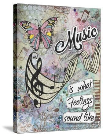 Musical Feelings-Let Your Art Soar-Stretched Canvas Print