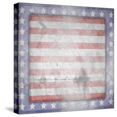 American Born Free Sign Collection V13-LightBoxJournal-Stretched Canvas Print