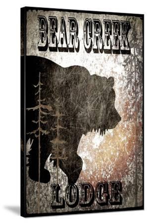 BearCreekLodge_Black-LightBoxJournal-Stretched Canvas Print