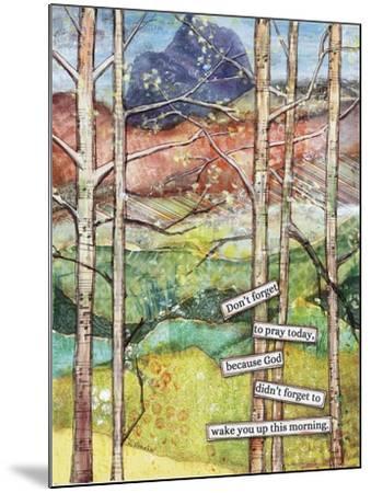 Morning Prayer-Let Your Art Soar-Mounted Giclee Print