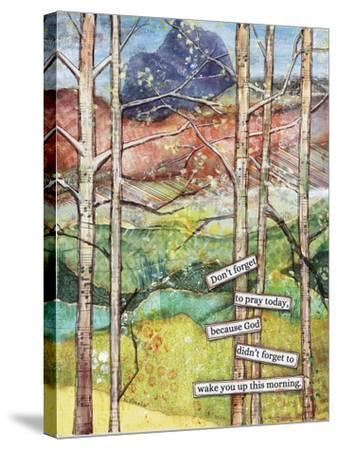 Morning Prayer-Let Your Art Soar-Stretched Canvas Print