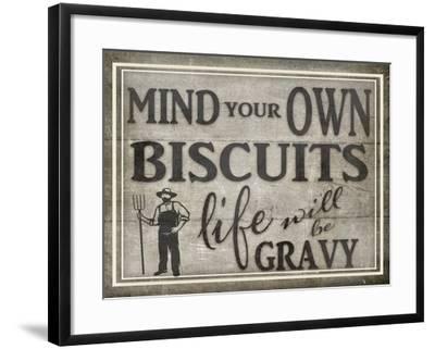 Mind Your Biscuits BK-LightBoxJournal-Framed Giclee Print