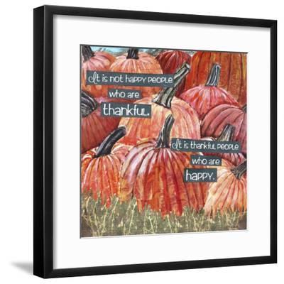 Thankful Pumpkins-Let Your Art Soar-Framed Giclee Print