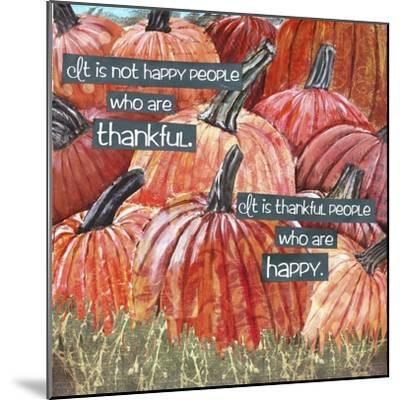 Thankful Pumpkins-Let Your Art Soar-Mounted Giclee Print