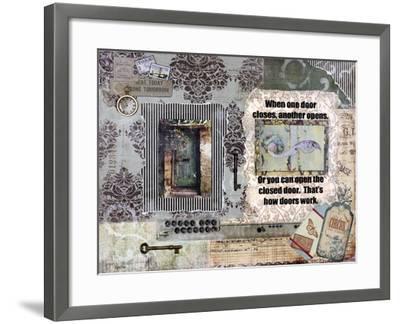 Adoor Me-Let Your Art Soar-Framed Giclee Print