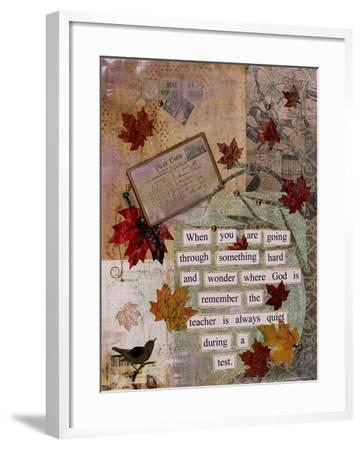 Autumn Test-Let Your Art Soar-Framed Giclee Print