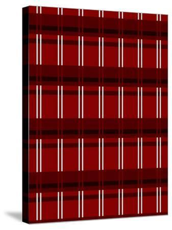 Minimalist Red Plaid Design 01-LightBoxJournal-Stretched Canvas Print
