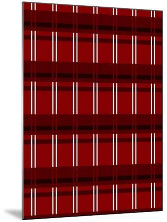 Minimalist Red Plaid Design 01-LightBoxJournal-Mounted Giclee Print