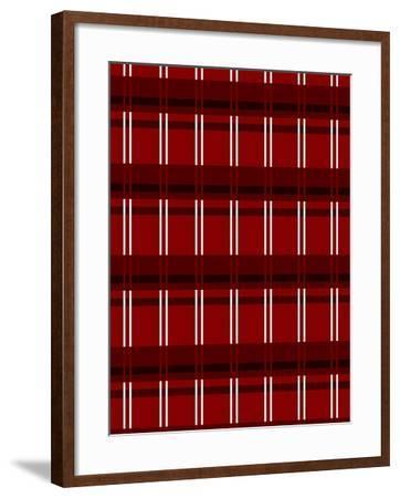 Minimalist Red Plaid Design 01-LightBoxJournal-Framed Giclee Print