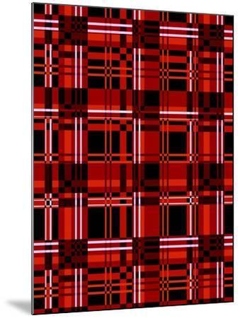 Minimalist Red Plaid Design 06-LightBoxJournal-Mounted Giclee Print