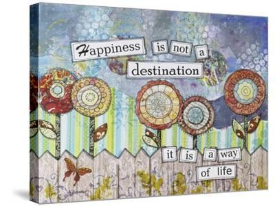Happy Destinations-Let Your Art Soar-Stretched Canvas Print